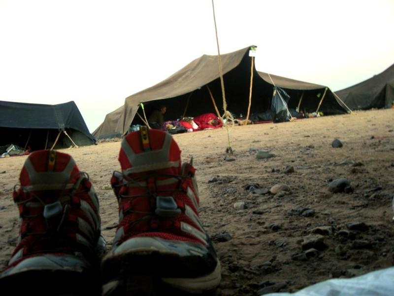 Biwak Zelt, in einem solchen Zelt verbringt Herbert die Nächte